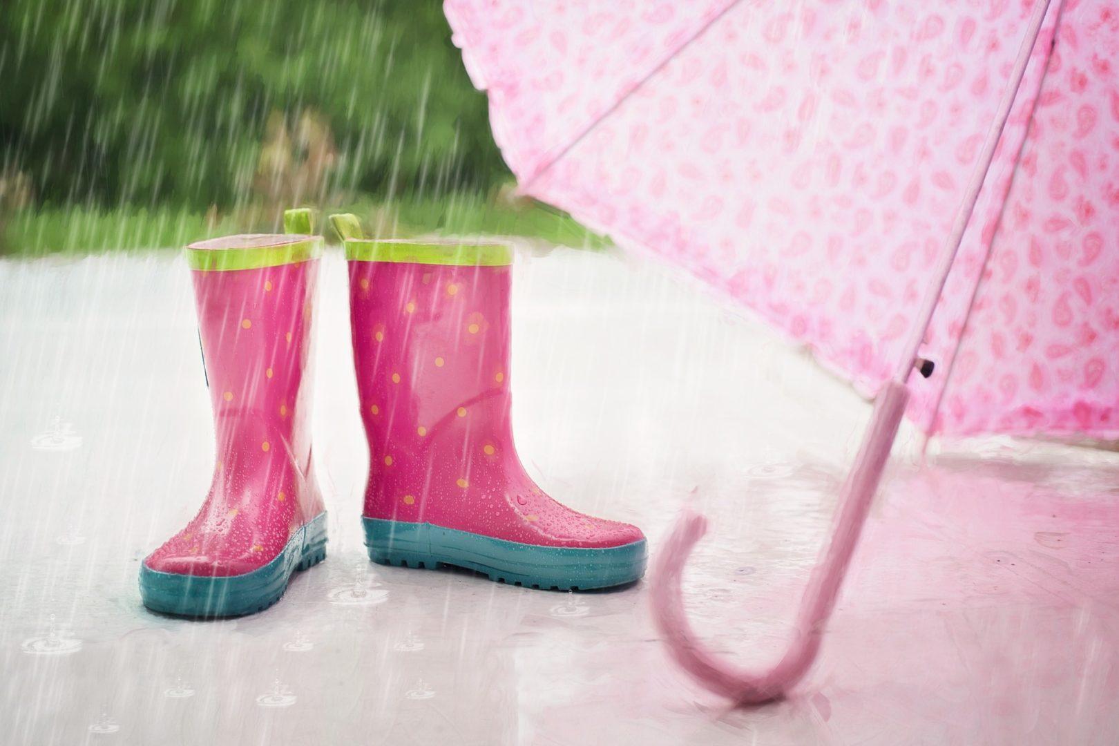 regn stövlar paraply